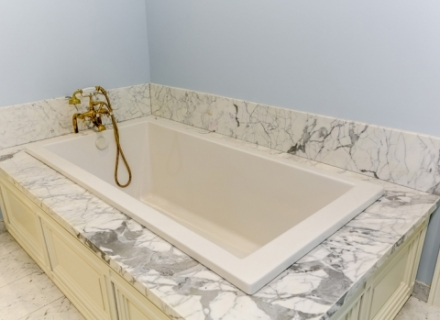 CBJ tub with vintage brass faucet r