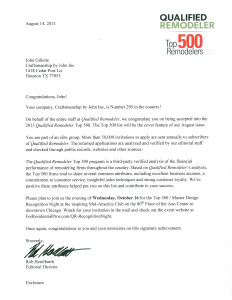 2013 Top 500 letter