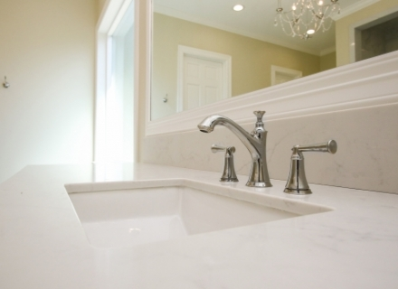 Sink with nickel fixture